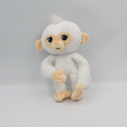Peluche singe blanc pailleté FINGERLINGS