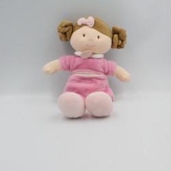 Doudou et compagnie poupée fille rose Les Demoiselles