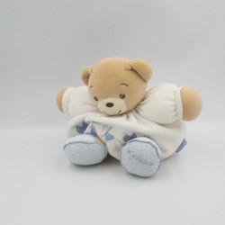 Doudou patapouf ours blanc bleu enfants KALOO
