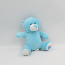 Doudou ours bleu blanc FOREST DISTRIBUTION