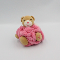 Doudou petit ours Plume beige rose KALOO