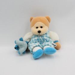 Doudou ours blanc bleu...
