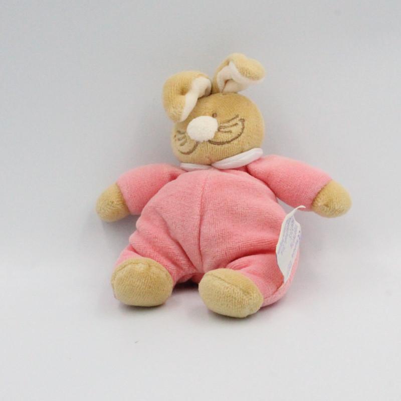 Mini Doudou lapin rose NOUKIE'S