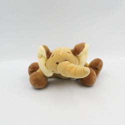 Doudou éléphant marron beige NOUKIE'S