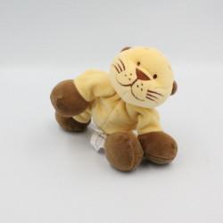 Doudou tigre lion écru marron NOUKIE'S