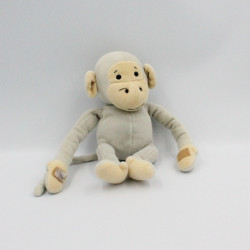 Doudou singe gris Popi AJENA