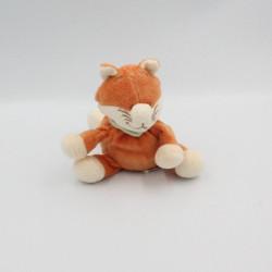 Doudou renard orange foulard vert NOUKIE'S 15 cm