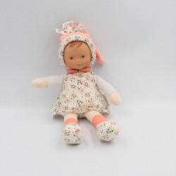 Doudou poupée bébé rose...