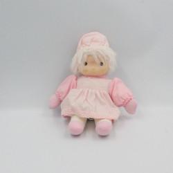 Ancienne poupée rose rayé Mélody Romance
