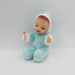 Ancienne poupée bleu avec biberon BERGERE DE FRANCE