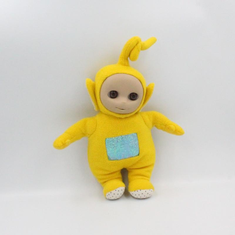 Doudou peluche TELETUBBIES jaune Lala Laa-laa TOMY
