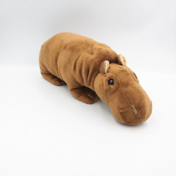 Doudou hippopotame marron 32 cm