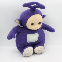 Doudou peluche TELETUBBIES violet Tinky Winky parlant TOMY