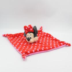 Doudou plat Minnie rouge rose pois DISNEY