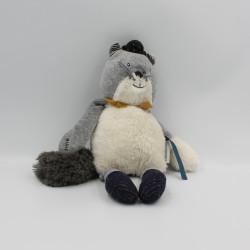 Doudou chat gris Alphonse Les Moustaches MOULIN ROTY