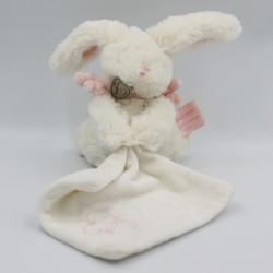 Doudou et Compagnie lapin blanc rose mouchoir Bonbon