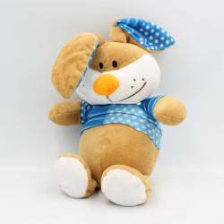 Doudou lapin beige bleu pois FIZZY