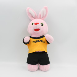 Peluche lapin rose DURACELL