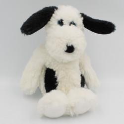 Doudou peluche chien blanc noir Muggy TY