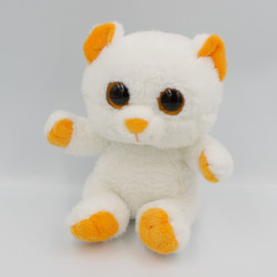 Doudou peluche ours blanc orange PETILLOUS COLOR GIPSY