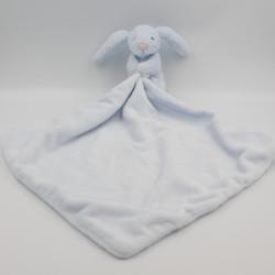 Doudou lapin bleu mouchoir couverture JELLYCAT