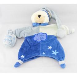 Doudou plat marionnette ours bleu Poudre à dormir UN REVE DE BEBE