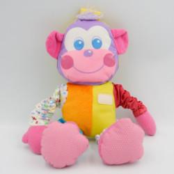 Doudou peluche singe multicolore PLAYSKOOL