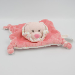 Doudou plat ours rose pois...