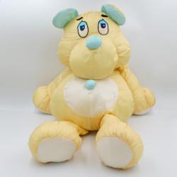 Peluche ours jaune bleu en toile gros Poutoux JUMBO LOVE