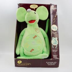 Peluche interactive une souris verte FAGOE NEUF