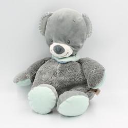 Doudou ours gris bleu Jules NATTOU