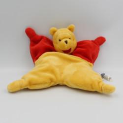 Doudou semi plat Winnie l'ourson  rouge jaune DISNEY BABY