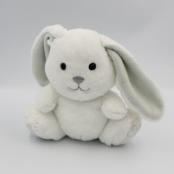 Doudou lapin blanc gris GIPSY
