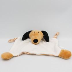 Doudou plat chien marron blanc noir rayé HEMA