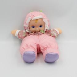 Doudou poupée tissu rose fleurs PLAYSKOOL 1999