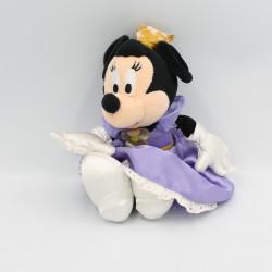 Peluche souris Minnie en princesse reine mauve DISNEYLAND