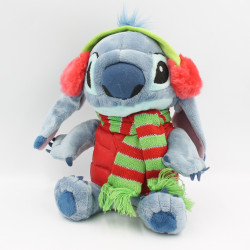 Peluche Stitch manteau rouge Hiver casque Lilo et Stitch DISNEY STORE