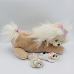 Ancienne Peluche chien beige Puppy Surprise HASBRO 1991