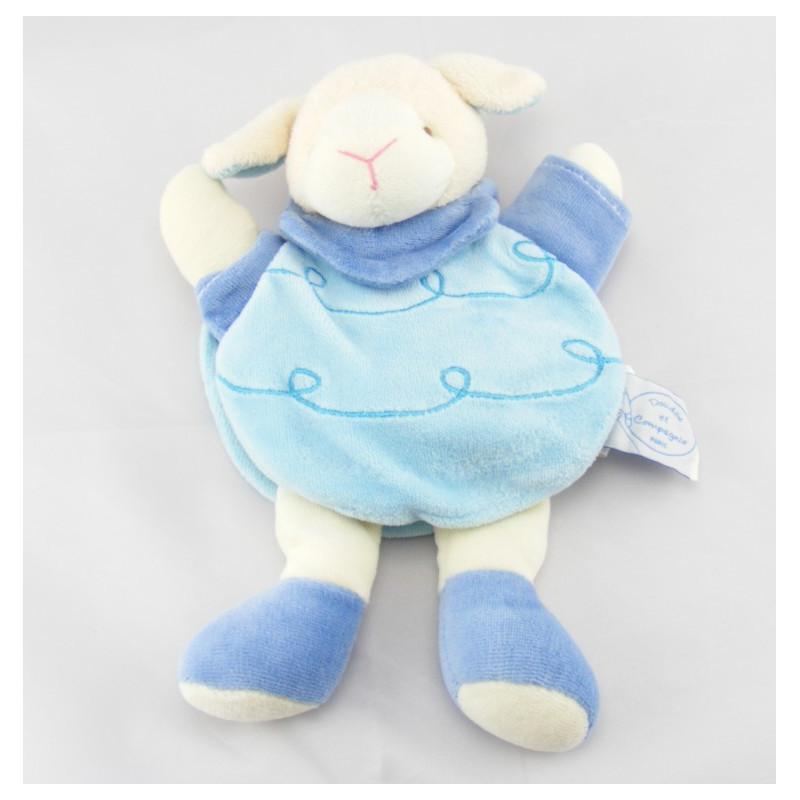Doudou bleu Gaston le mouton Doudou et Compagnie