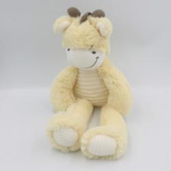 Doudou vache girafe écru jaune blanc marron TEX