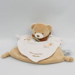 Doudou et compagnie plat ours beige marron blanc Mon premier doudou