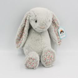 Doudou lapin gris fleurs Liberty JELLYCAT
