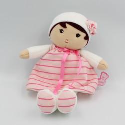 Doudou poupée blanc rose...