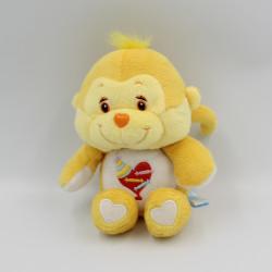 Peluche singe jaune Cousin Touloustique Bisounours CARE BEARS