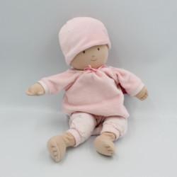 Doudou peluche poupée bébé rose BONIKKA