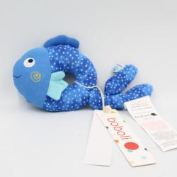 Doudou hochet poisson bleu BOBOLI