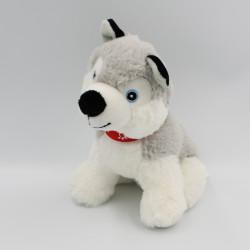 Peluche chien Husky gris blanc PRIMATIS