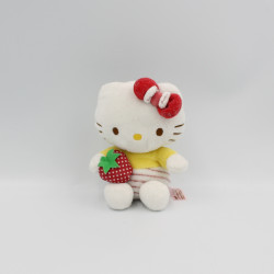 Doudou chat blanc jaune...