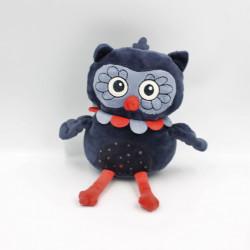 Doudou hibou chouette bleu rouge KIMBALOO