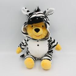 Doudou peluche Winnie l'ourson déguisé en zèbre DISNEY NICOTOY